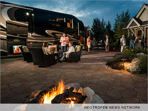 Luxury RV camping