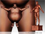 Bill Cosby Nude sculpture