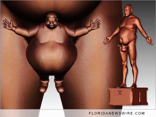 Bill Cosby Nude sculpture