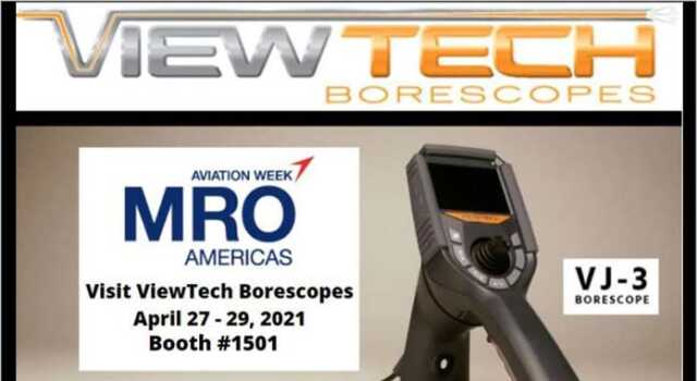 ViewTech Borescopes Exhibiting at MRO Americas
