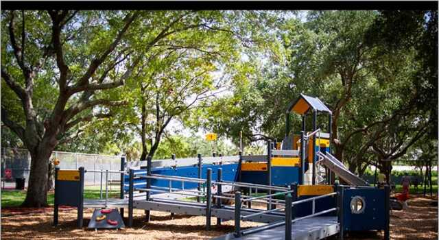 inclusive playground at Sgt. Kip Jacoby Park